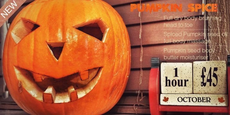 pumpkin spice massage revive petersfield