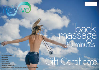 back massage Petersfield