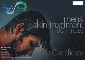 mens facial Petersfield 60 minutes gift certificate