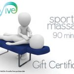 sports massage 90 minutes gift certificate